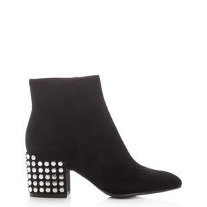 KENDALL + KYLIE Blythe Suede Leather Studded Boots